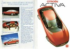 Citroen Activa Concept Car 1987 UK Market Foldout Brochure