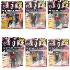 Star Trek GENERATIONS LOT 6 OF FIGURES Deanna LaForge Riker Worf Scott Soran NEW