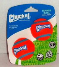 NEW CHUCK IT LOT OF 4 SMALL TENNIS BALLS PUPPY DOG PET PLAY TOYS 2 PACK