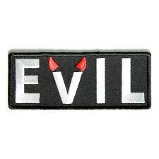 Embroidered Evil With Devil Horns Sew or Iron on Patch Biker Patch