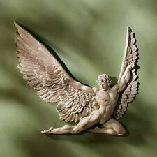 Flying Winged Icarus Wall Sculpture Detailed Statue Greek Myth Daedalus Wings