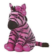 "Aurora World Girlz Nation Pink and Black Zebra Plush stuffed animal toy 11"" tall"