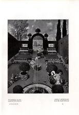 Adolf Hengeler Im Garten Engel- Motiv / Im Frühling Histor. Druck v. 1904