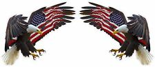 "American Eagle American Flag Decal Pair 12"" each in size Free Shipping"
