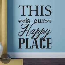 This Is Our Happy Place Vinyl Wall Decal Sticker