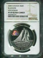 2000 CANADA $20 - THE BLUENOSE - NGC PF69 UC /w BOX & COA - HOLOGRAM