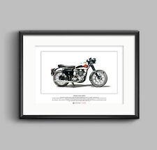 BSA Goldstar DBD34 Limited Edition Fine Art Print A3 size