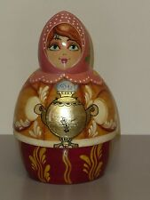 Russian Nesting or Counting Doll, 8 Pieces, Beautifully Painted Lady