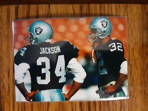 Bo Jackson Marcus Allen Raiders Football 4x6 Game Photo Picture Card