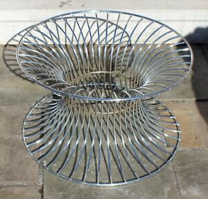 Vintage Midcentury Modernism Warren Planter Style Chrome Table Designer c.1960's