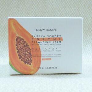 GLOW RECIPE Papaya Sorbet Enzyme Cleansing Balm 3.38oz/100ml SEALED IN BOX
