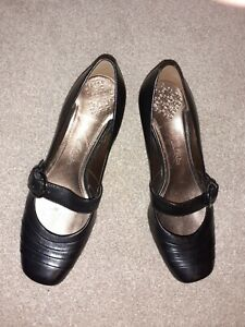 Clarks Ladies Cushion-Black Leather  Mary Jane Style Shoes - Size 5