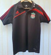 Adidas Liverpool FC Black Climalite Training Polo Shirt 2009? Size Small Medium