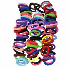 100 x 8mm Mix Colors Girl Hair Elastic Hair Ties Band Rope Ponytail Holder small
