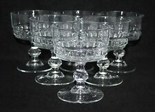 A Set of 6 Vintage Clear Glass Sundae Dishes - vgc