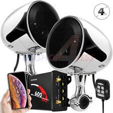 600W Bluetooth Motorcycle Stereo Waterproof Speaker Audio Amplifier System Radio
