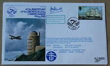Islas del Canal 40TH aniversario de Liberartion 1985 Cubierta firmado LT Cdr D M Parratt