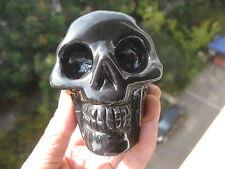 541g(1.19lb)  Rainbow  Natural Obsidian Quartz Crystal Skull Healing China A256