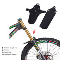 MTB Mountain Bike Bicycle Black Front Rear Mud Guards Mudguard Fender Protector