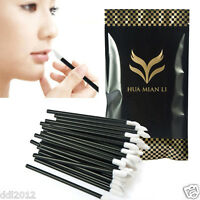 100PCS HUAMIANLI Disposable Lip Brushes Lipstick Gloss Wands Applicator Makeup