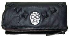 Rip Curl Dagger Womens Genuine Leather Wallet C'book Purse Gift - Black