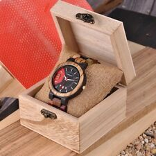 Luxury Bamboo Men Watch In Wood Box Date Display Quartz Men Watch Great Gift