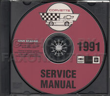 1991 Chevrolet Corvette Service Manual on CD-ROM Repair Shop