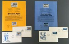 1985 First Day Covers FDC Souvenir Pages Winter Special Olympics Social Security