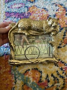 """Opalhouse™ - Golden Panther/Leopard Picture Frame  4""""x6"""" Gold Metal New"""
