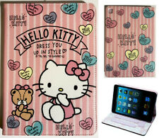 For Apple iPad Mini 1 2 3 4 5 Hello Kitty Kids Anime Pink Smart Stand Case Cover