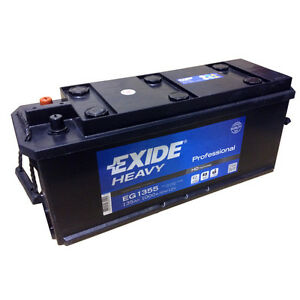 Exide Heavy EG1355 12V 135AH Starterbatterie for Trucks Busse Construction &