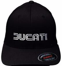 Ducati 1980s Logo Hat Black with GP Motorcycles Logo on Back, L/XL