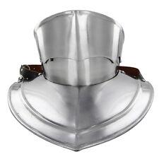 Medieval Knights Handmade Medieval Gothic Revival 16g Bevor Armor