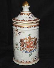 E'] Pot couvert ancien en Porcelaine (SAMSON PARIS? cf signature)