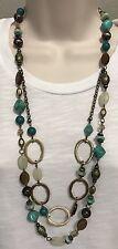 Premier Designs Jewelry ST. LUCIA Necklace 20449 Gold Brass 3-in-1 Versatile