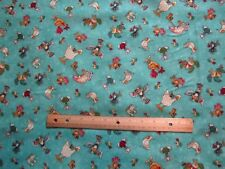 2 Yards Blue Mouse Chicken/Duck/Bird Henry Glass No Fowl Play Cotton Fabric