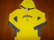 NWT NIKE THERMA-FIT AIR JORDAN BRIGHT YELLOW HOODED SWEATSHIRT BOYS SIZE 6