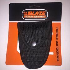 Blaze Tactical Handcuff Pouch Black Hook and Loop Closure 13cm x 10cm 2.5cm