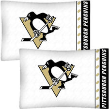 NHL 2pc PITTSBURGH PENGUINS PILLOWCASE Set - Hockey Team Logo Pillow Cover