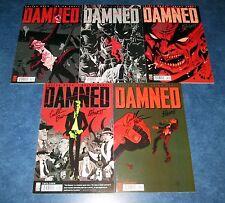 DAMNED #1 2 3 4 5 signed 1st print set CULLEN BUNN & BRIAN HURT ONI PRESS COA
