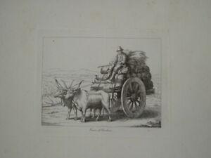 B.PINELLI (1781-1835) GRAVURE VOYAGE ROME ROMA CONTREBANDE ITALIE ITALIA 1820 ad