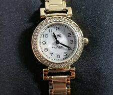 COACH MADISON 14502403 WATCH WITH 24mm SILVER TONE FACE & GOLDEN BRECLET