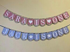 Personalised Alphabet Birthday Bunting Flag Party Decoration Banner Boy Girl B8e