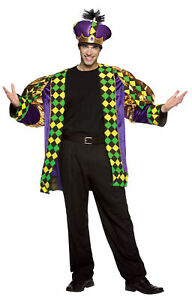 Mardi Gras King Adult Men's Costume Oversize Jacket Halloween Rasta Imposta