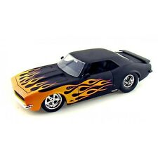 JADA 1968 CHEVY CAMARO SS 1/18 MATTE BLACK WITH orang FLAME 96323
