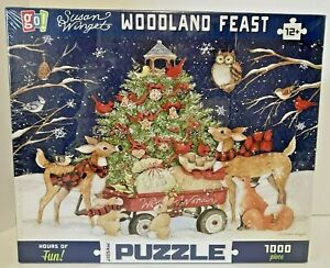 """New """"Woodland Feast"""" by Susan Winget ~ GO! Games ~ 1000 Pieces"""