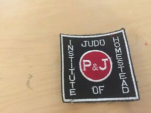 JUDO VINTAGE  PATCH,judo institute of homestead, NEW OLD STOCK,1970'S