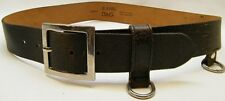 DOLCE GABBANA DISTRESSED DARK BROWN LEATHER GOTH HIPPIE DUTY BUCKLES BELT SZ 32