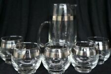 Dorothy Thorpe Martini Pitcher and Roly Poly Set/Mid-Century Modern/Mad Men