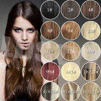 """14""""-30""""inch 70G-120G 100% Clip In Real Human Hair Extensions Black Brown Blonde"""